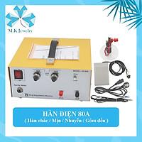 Máy hàn điện 80A - Vàng  ( Model : DX - 808 )  Chuyên dụng cho hàn nữ trang, điện tử, điện thoại, thiết bị khác.
