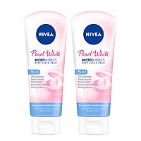 Bộ 2 Sữa rửa mặt NIVEA Pearl White giúp trắng da ngọc trai (100g*2)