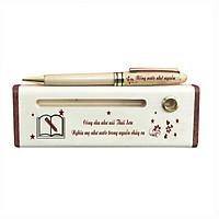 Bút - Hộp bút gỗ (Công cha như núi Thái Sơn) - WG1