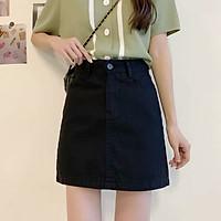 Chân váy ngắn chữ A lưng cao phong cách hàn quốc 3 màu chất kaki