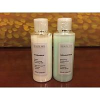 Bộ chăm sóc da mặt, sữa rửa mặt dưỡng ẩm  HYDRAMILK và dung dịch tái cân bằng cho da nhạy cảm AQUALOTION