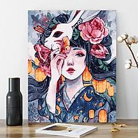 Tranh tô màu mặt nạ hoa 353