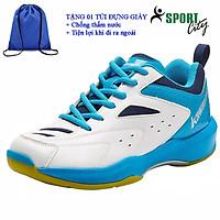 Giày cầu lông kawasaki K085 chính hãng dành cho cả nam và nữ, chuyên nghiệp chống lật cổ chân-tặng kèm túi rút thể thao