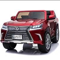 Ô tô xe điện điều khiển tự lái LEXUS 570 bánh hơi ghế da cao cấp sơn quây (Đỏ-Trắng-Xanh-Đen)