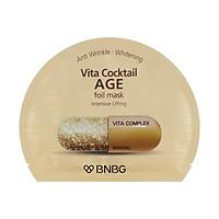 Mặt nạ lá nguyên khối cao cấp dưỡng da giúp nâng cơ, chống lão hóa Banobagi Vita Cocktail Age Foil Mask - Intensive Lifting 30ml
