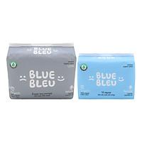 Combo Băng Vệ Sinh Hàng Ngày Blue Bleu Từ Sợi Bông Hữu Cơ Và Tinh Dầu Cây Bách (25cm) Và (43cm)