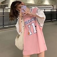 áo thun nữ - áo phông cộc tay phom rộng in số 11 phong cách hàn quốc