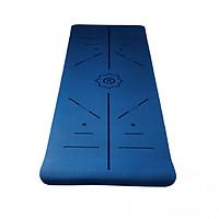 Thảm yoga định tuyến tpe 6mm 2 lớp Xanh dương tặng túi đựng