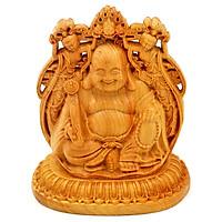 Tượng Phật hình Di lặc gỗ Hoàng đàn