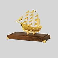 Quà tặng tân gia: Mô hình thuyền buồm mạ vàng 24k MHB-0003-C13