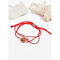 Vòng tay thắt dây đá thạch anh tóc đỏ mệnh hỏa , thổ - Ngọc Quý Gemstones