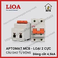 Cầu dao tự động an toàn (APTOMAT) LIOA 2 Cực 6A đến 63A dòng cắt 4,5KA/10KA LIOA MCB2P