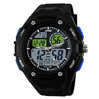 Đồng hồ nam dây nhựa SKMEI Army Sport Watch 10TCK18 - Đen phối xanh