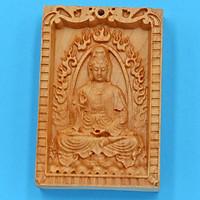 Mặt trang trí gỗ ngọc am khắc tượng Quan âm MG14 - Sản phẩm phong thủy đem lại bình an, may mắn
