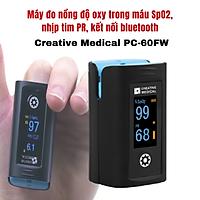 Máy đo nồng độ oxy trong máu SpO2 và nhịp tim Creative Medical PC-60FW, kết nối bluetooth