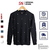 Áo Nỉ Nam Cổ Tròn 5S (5 màu), Chất Liệu Cotton USA Mềm Mịn, Không Bai Xù, Thiết Kế In Họa Tiết Trẻ Trung (ANI21007)