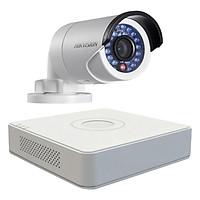 Trọn bộ 1 Camera giám sát HIKVISION TVI 2 Megapixel DS-2CE56D0T-IR chuẩn Full HD - Hàng chính hãng