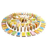 100 miếng domino hình câu đố dành cho giáo dục hiệu Ming Ting (MING TA) A8155 100