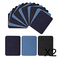 2x18pcs Iron on Denim Patches DIY Elbow/Knee Repair Patches for Jeans Jacket