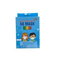 Combo 2 hộp khẩu trang trẻ em 5D Mask Kids (hộp 10 cái) 1 hộp Màu trắng 1 hộp màu xanh