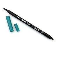 Bút lông hai đầu màu nước Marvy LePlume II 1122 - Brush/ Extra fine tip - Peacock Green (58)
