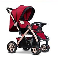 Xe đẩy em bé 2 chiều cao cấp gấp gọn màu ngẫu nhiên (đỏ)