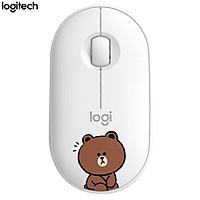 Chuột Bluetooth Không Dây Logitech Pebble Kìểu Dáng LINE FRIENDS - Thỏ Kenny