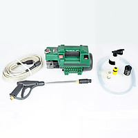 Máy rửa xe mini gia đình, máy rửa xe cao áp công suất mạnh 2000W, máy bơm rửa xe, bộ máy xịt tưới cây dễ dàng sử dụng, ống bơm nước 15m, vòi bơm áp lực cao_C0001G1