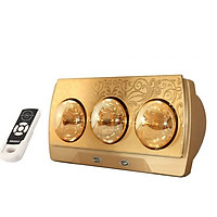 Đèn sưởi nhà tắm Heizen 3 bóng vàng HE3BR (điều khiển từ xa)-hàng chính hãng