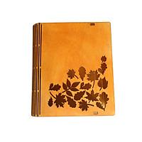 [ HÀNG MỚI ] Bìa Sách Gỗ Khắc Họa Tiết Theo Yêu Cầu - Bìa Sách Bằng Gỗ Thủ Công Độc Đáo