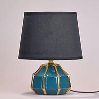 Đèn ngủ để bàn DS-TL9714. Màu xanh ngọc bích, viền vàng Hiện đại sang trọng