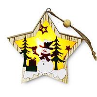 Móc Treo Trang Trí Giáng Sinh Có Đèn Led Độc Đáo 10.5x9.7 cm