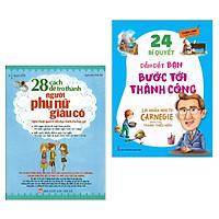Combo Sách Kỹ Năng Làm Việc Hiệu Qủa: 28 Cách Để Trở Thành Người Phụ Nữ Giàu Có + 24 Bí Quyết Dẫn Dắt Bạn Tới Thành Công - Lời Nhắn Nhủ Từ Carnegie Dành Cho Thanh Thiếu Niên (Cẩm Nang, Bí Quyết Gặt Hái Thành Công - Tặng Kèm Bookmark Green Life)