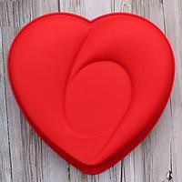 Khuôn silicon hình trái tim kiểu - Size 24 cm