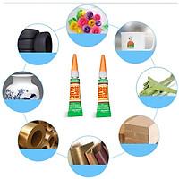 Keo dán đa năng Super glue siêu dính , lên mọi chất liệu gỗ, nhựa, đồ gốm, kim loại, da , móng tay an toàn khi sử dụng