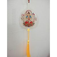 Qùa tặng Phật giáo lá bồ đề in hình Phật bình an may mắn