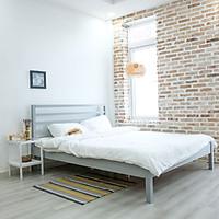 Giường Ngủ Gỗ Nan Simple Bed Nội Thất Kiểu Hàn BEYOURs - Xám