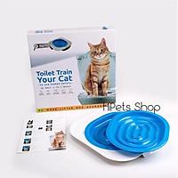 Dụng cụ huấn luyện mèo đi vệ sinh vào toilet