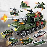 Đồ chơi lắp ghép XE Tank 8 trong 1 với hơn 313 chi tiết Bằng nhựa ABS an toàn