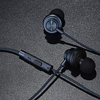 Tai nghe earphone thể thao dùng cho chạy bộ và tập gym Plextone X56M Sports vỏ nhôm + ABS cao cấp, tai phone thiết kế earbud nhét tai phủ nano P2i giúp kháng nước chuẩn IPX-4, màng loa composite 15mm, jack 3.5mm cho âm thanh trung thực. - Hàng Chính Hãng.