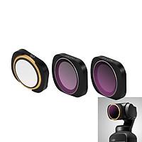 Bộ 3 filter kính lọc CPL ND8 ND16 Osmo Pocket - Professional - Chính hãng PGYtech