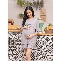 Bộ bầu sau sinh (B03) chất cotton thấm hút mồ hôi tốt, có chỗ cho em bé tuti, quần có chun điều chỉnh - thiết kế bởi LAMME