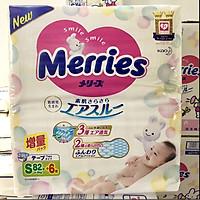 Bỉm - Tã dán Merries size S 88 nội địa thêm miếng (Cho bé 4 - 8kg)