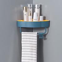 Kệ Góc Nhà Tắm Tam Giác Nhựa ABS Dán Tường Hình Mây Màu Ngẫu Nhiên - Tặng Móc chìa khóa kiêm Thước dây 1m Tiện Lợi
