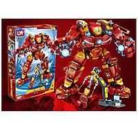 Lắp Ráp Xếp Hình Mô Hình Robot Hulkbuster Iron Man Người Sắt MK44 568 Khối - Đồ Chơi Trẻ Em