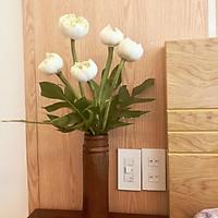 Lọ cắm hoa bằng tre cao cấp phong cách vintage, mộc mạc, bề mặt phủ lớp sơn bóng an toàn theo tiêu chuẩn xuất khẩu Châu Âu