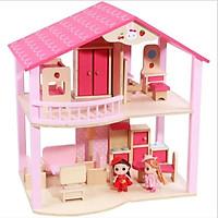 Ngôi nhà lắp ráp búp bê bằng gỗ cao cấp