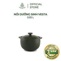 Nồi sứ dưỡng sinh Minh Long - Vesta 0.85 L + nắp dùng cho bếp gas, bếp hồng ngoại