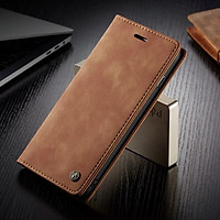 Bao da bò thật dạng ví chính hãng Caseme dành cho iPhone XR - Hàng chính hãng