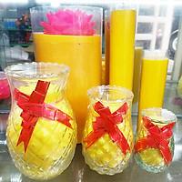 Nến Đèn Cầy Thơm Quả Dứa Trang Trí Cháy Từ 25 - 200 Tiếng